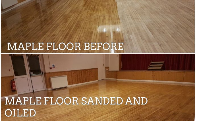 maple floor sanding